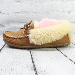 LL BEAN Lined Wicked Good Moccasins Slippers 9